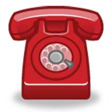 Un téléphone rouge muni d'un combiné à l'ancienne, ressemblant à ce que l'on retrouverait dans une bande dessinée.
