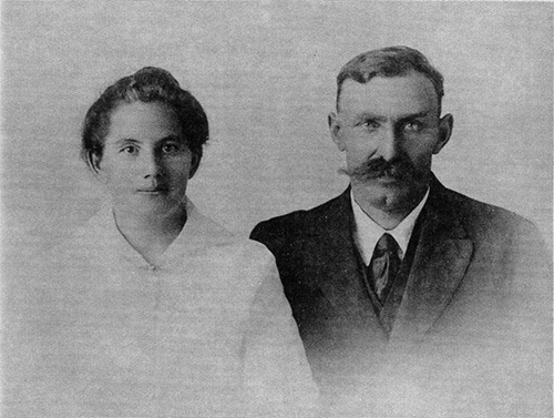 old portrait of man and woman
