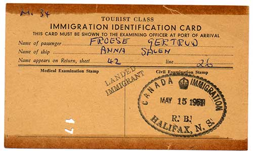 Old copy of a brown colored identification document.